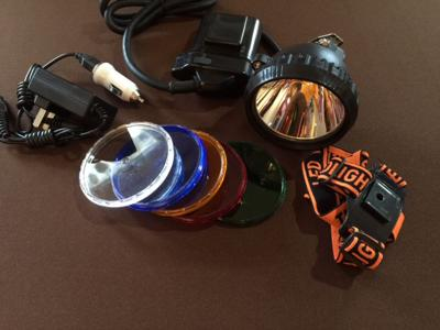 10 V LED hunting light with Color lens (5) msrp $149.99