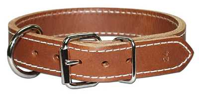 "Collar, 1"" Dee-In-Front leather"