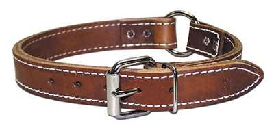 "Collar, 1"" Ring-In-Center Leather"