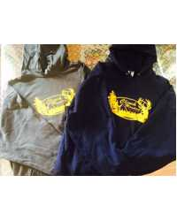 CLINCH MTN OUTFITTERS HOODIE (Navy & Dark Gray w/Yellow shown)