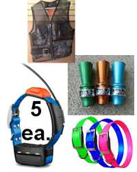 5-Pak GARMIN T5 Collar Bundle